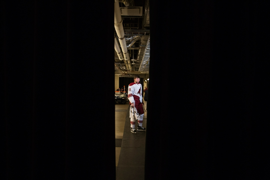 Dallas Stars versus the Phoenix Coyotes in Dallas, Texas on January 26, 2012.